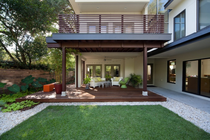 covered front deck design