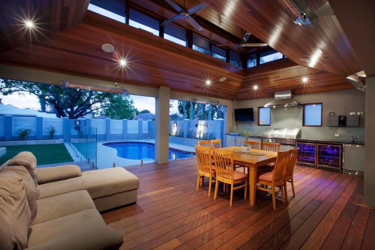 enclosed patio deck design