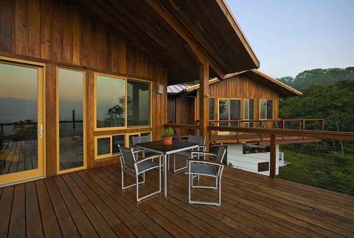 rustic deck railing design