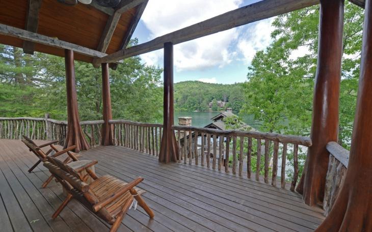 rustic wood deck