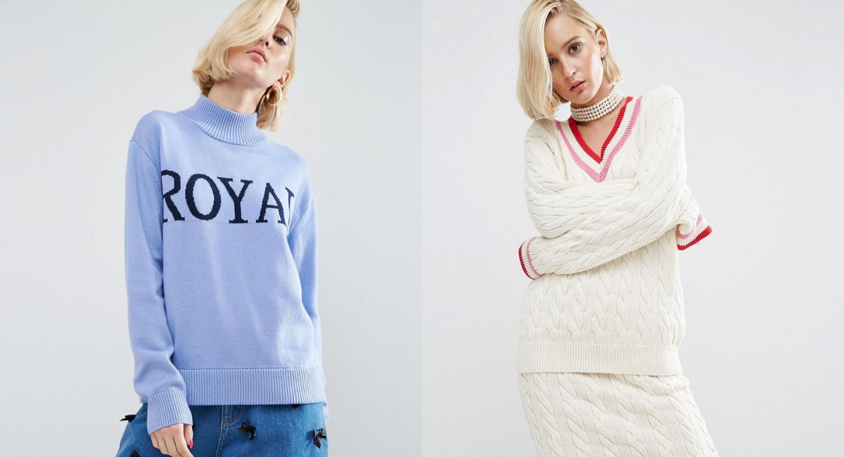 asos cable knit cricket sweater