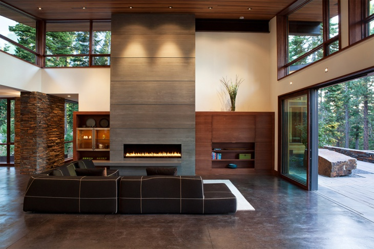 modern indoor fireplace design