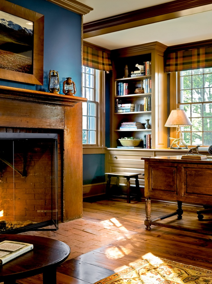 traditional wood fireplace design