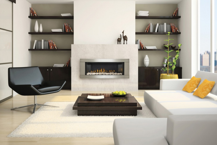 contemporary gas fireplace design