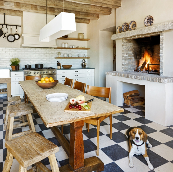 kitchen cooking fireplace design