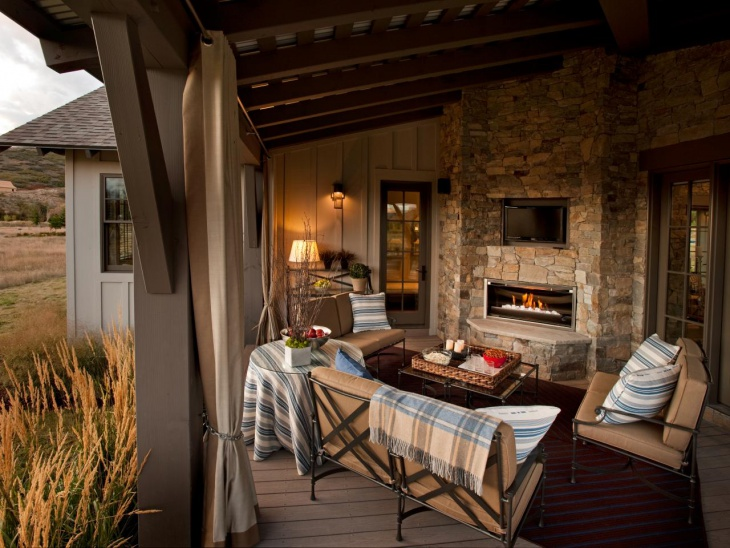 tuscan wood burning fireplace