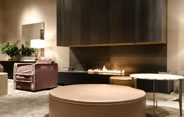 modern open fireplace design