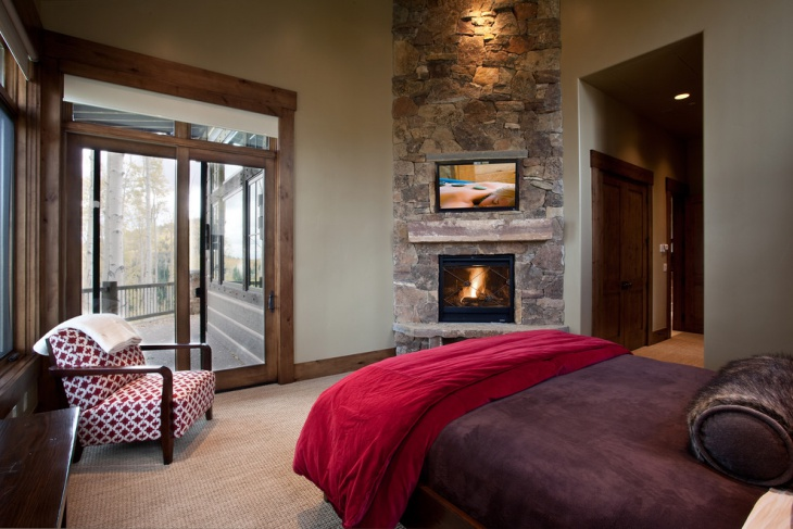 47 fireplace designs ideas design trends premium psd for Master bedroom corner fireplace
