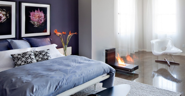 modern bedroom fireplace design