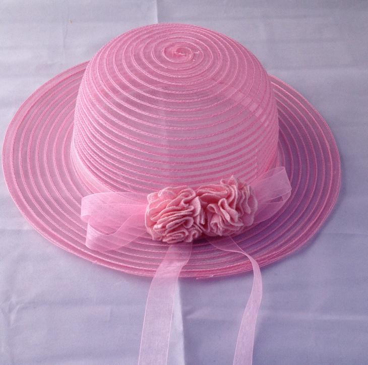 pink mesh hat design