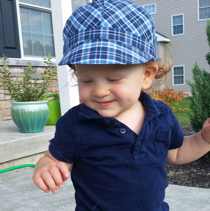 plaid hat for kids