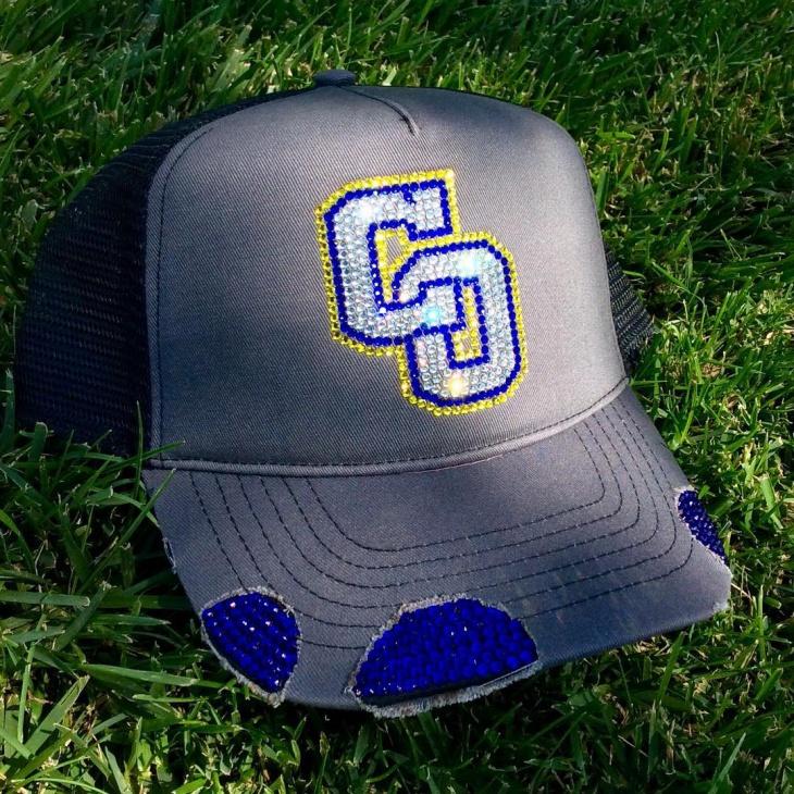 bling football hat design