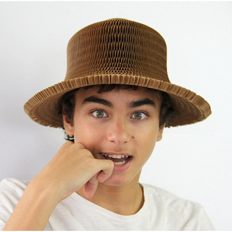 honeycombed cardboard hat
