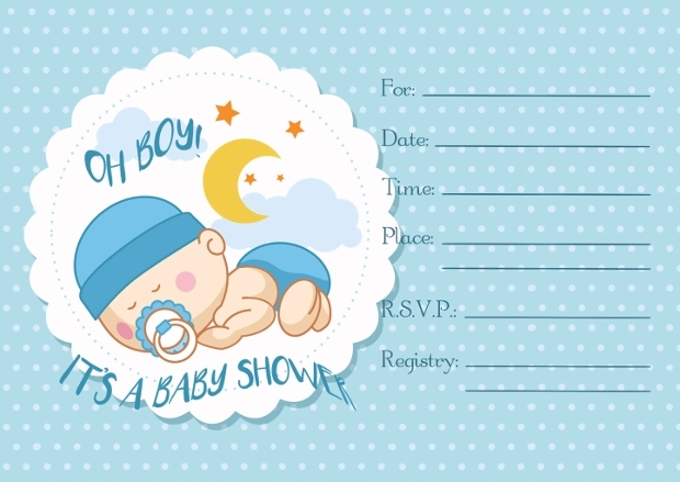 blank baby shower invitations for boys