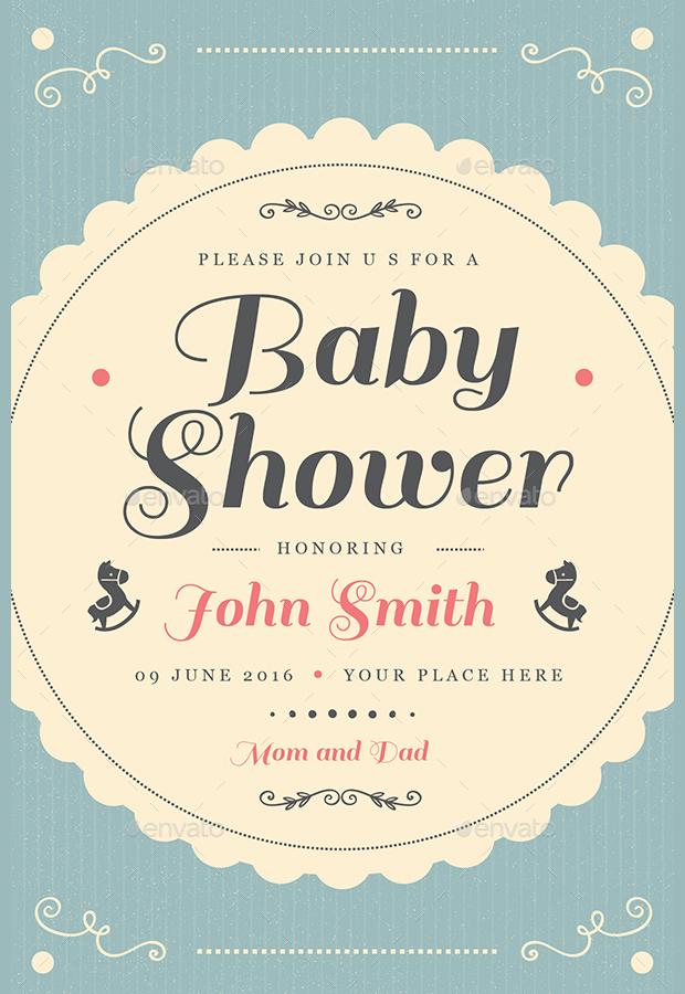Vintage Plane Baby Shower Invitation