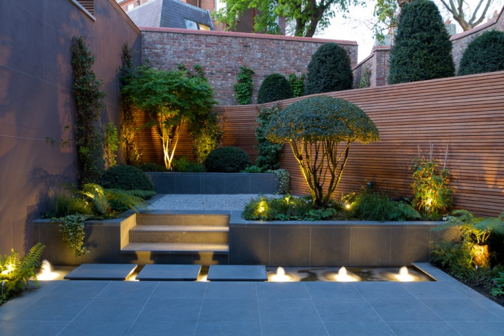 paved small garden design