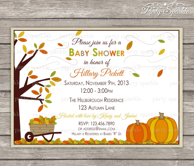 Printable Fall Baby Shower Invitation