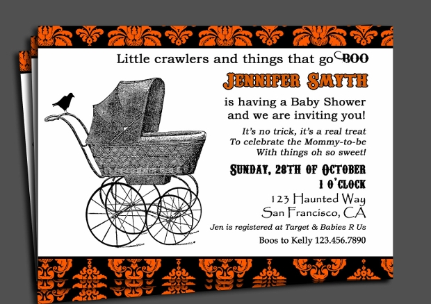 Printable Halloween Baby Shower Invitation