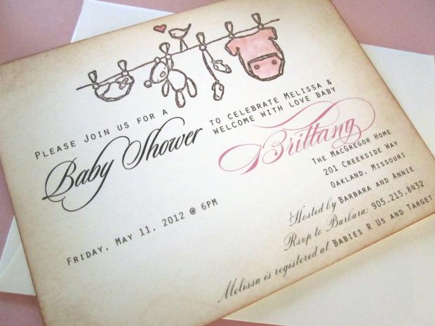 Vintage Disney Baby Shower Invitation
