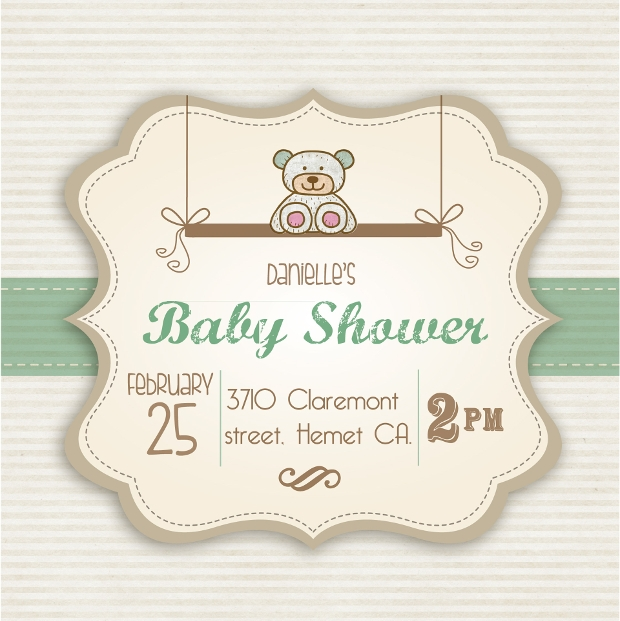 funny girl baby shower invitation