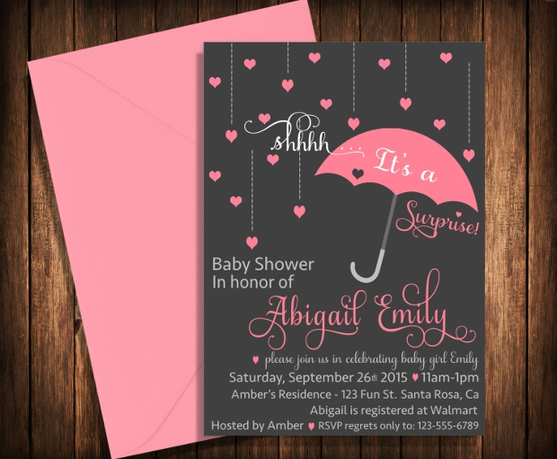 Surprise Baby Shower Party Invitation