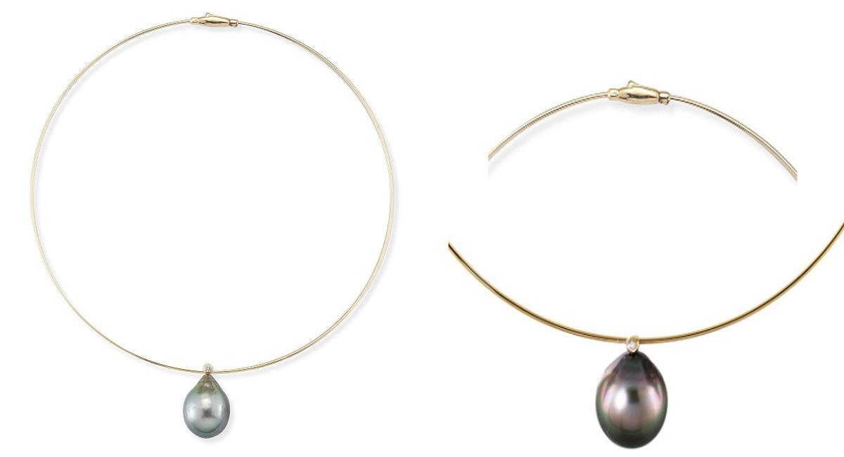 mizuki pearl diamond collar necklace1