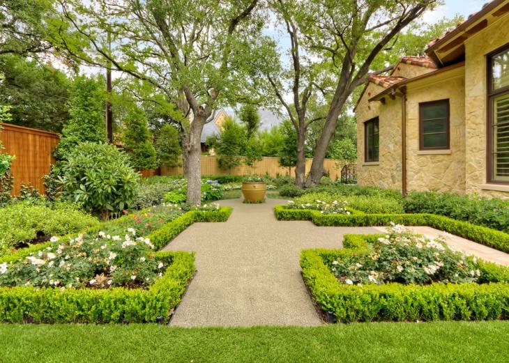 tuscan courtyard garden design