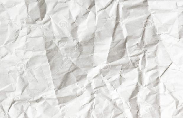 white wrinkled paper texture 1