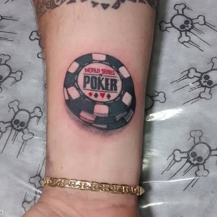 Gambling Small Poker Tattoo