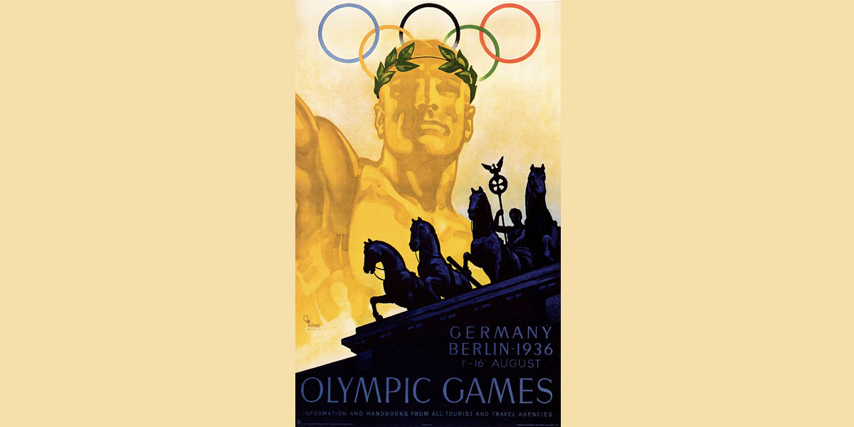 berlin 1936 olympic games poster