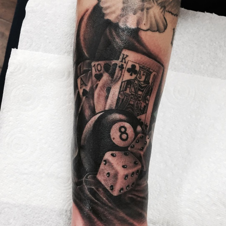 Gambling Dice Tattoo