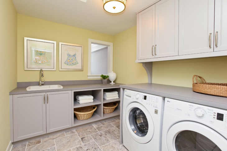 small cottage laundry room idea