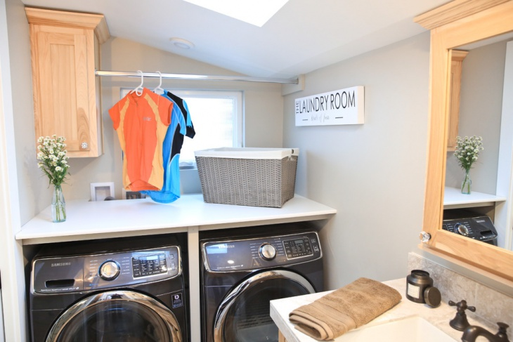 cottage chic laundry room design