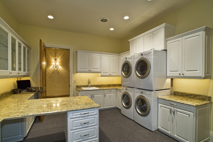 contemporary commercial laundry room design