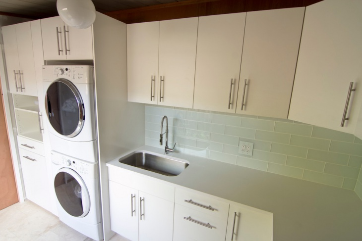 midcentury commercial laundry room design