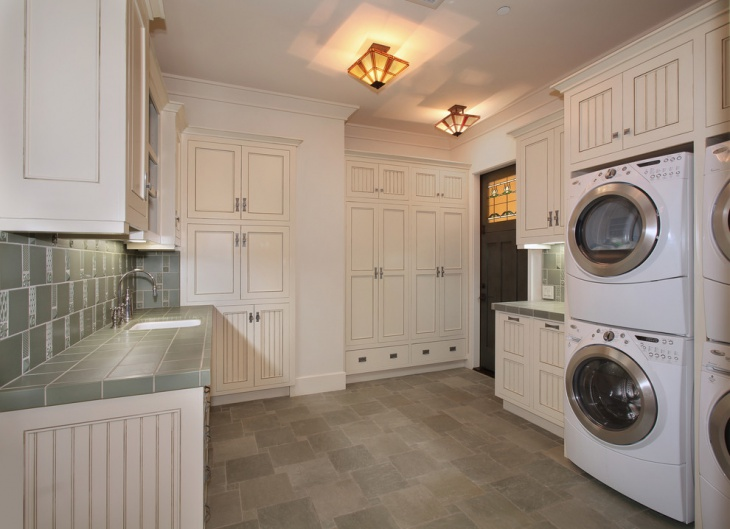 craftsman l shaped laundry room design