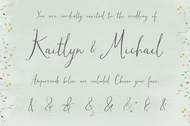 fancy handwritten calligraphy font