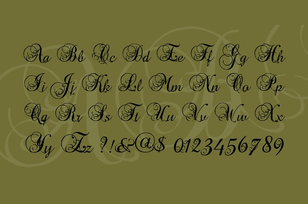 Fancy Calligraphy Tattoo Font