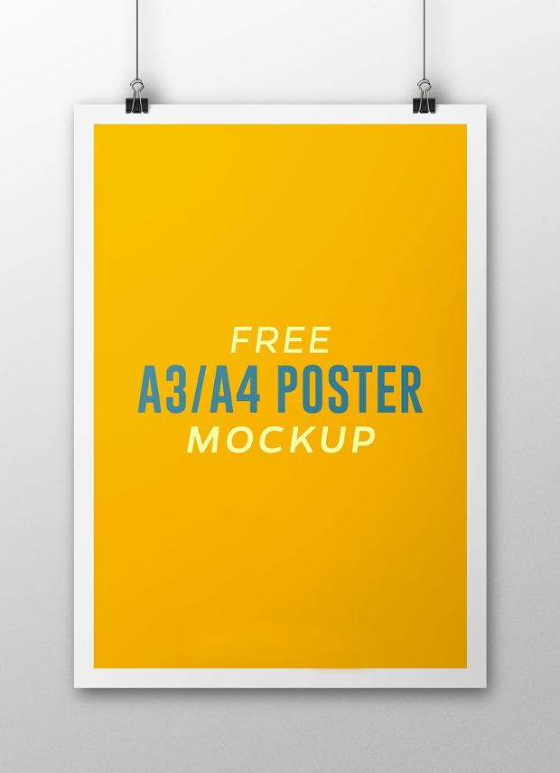 A4 Poster Mockup
