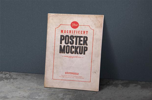 vintage poster mockup