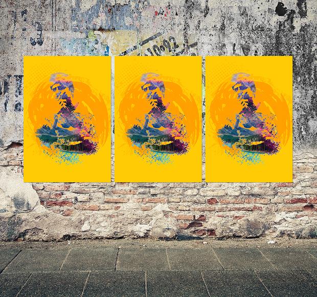 Grunge Poster Mockup
