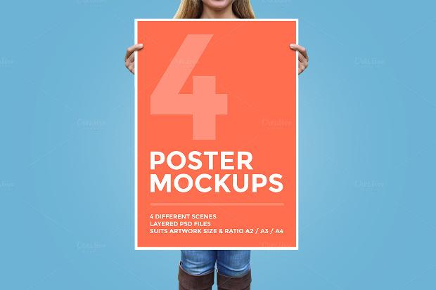 Colorful Poster Mockup Design