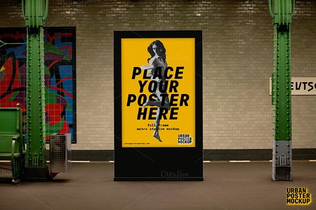 Metro Station Poster Mockup