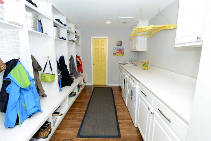 long narrow laundry room design