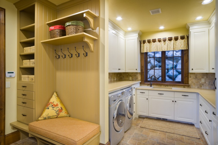 traditional apartment laundry room design