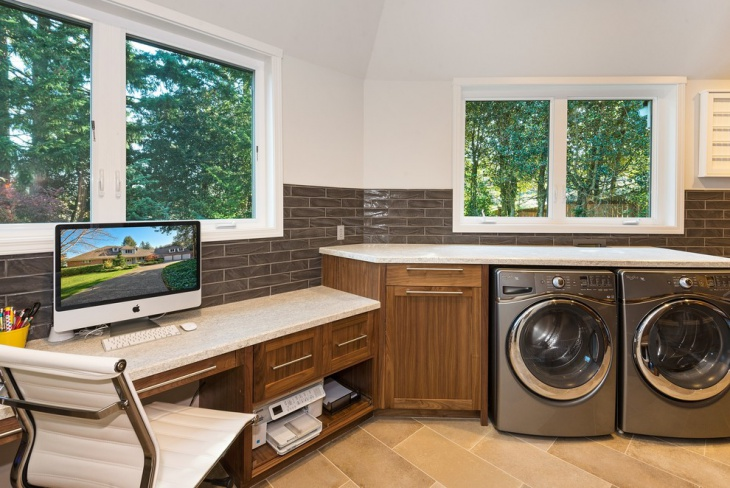 home office laundry room design
