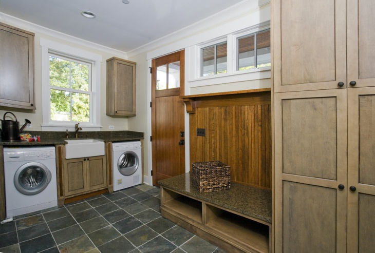 craftsman vintage laundry room