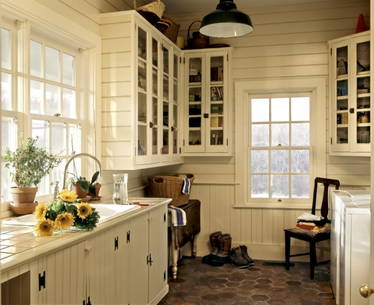 traditional vintage laundry room idea