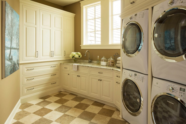 small laundry room floor design