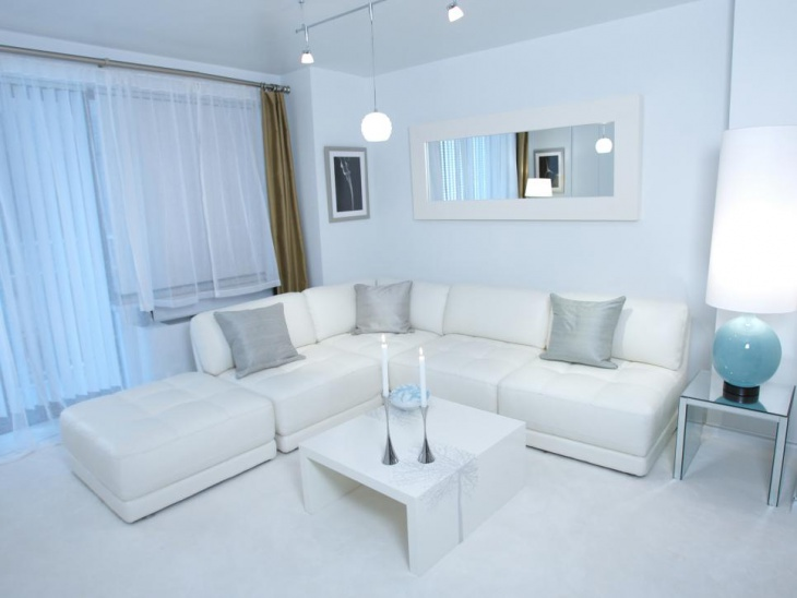 white modern living room design
